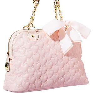 Betsey Johnson light pink heart purse ** no bow